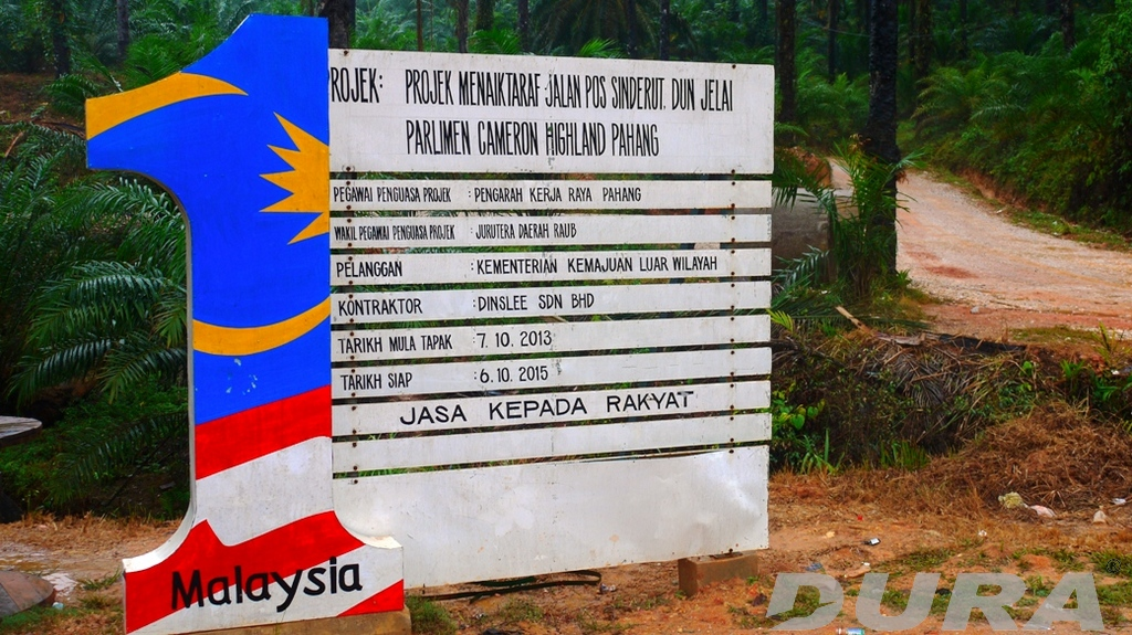 Project signboard and detail.