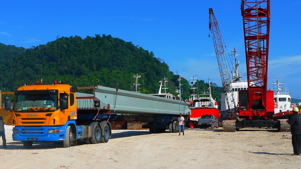 DURA beam arrived to Kg Acheh.