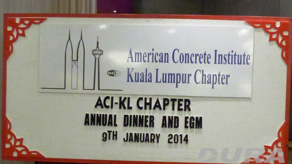 ACI-KL Chapter annual dinner and EGM held in Crystal Crown Hotel (09/01/2014).