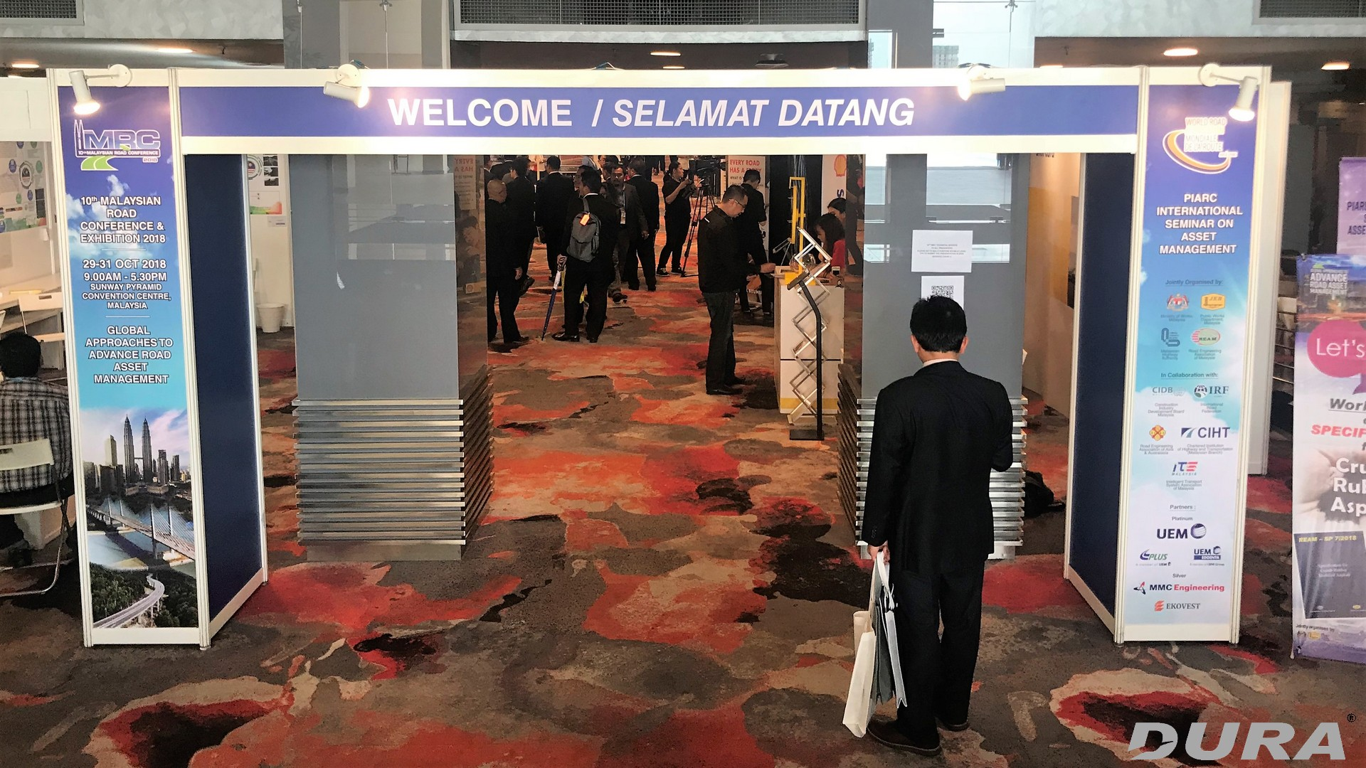 Exhibition entrance of 10th Malaysian Road Conference & PIARC