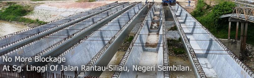 No More Blockage At Sg. Linggi Of Jalan Rantau-Siliau, Negeri Sembilan.