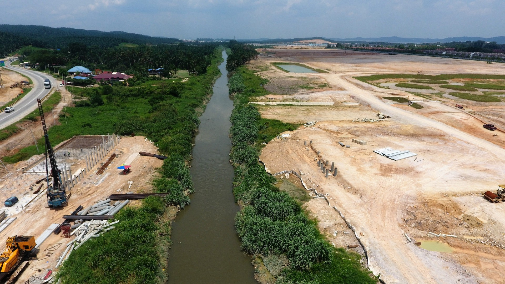 Bridge site at Sg. Buloh.