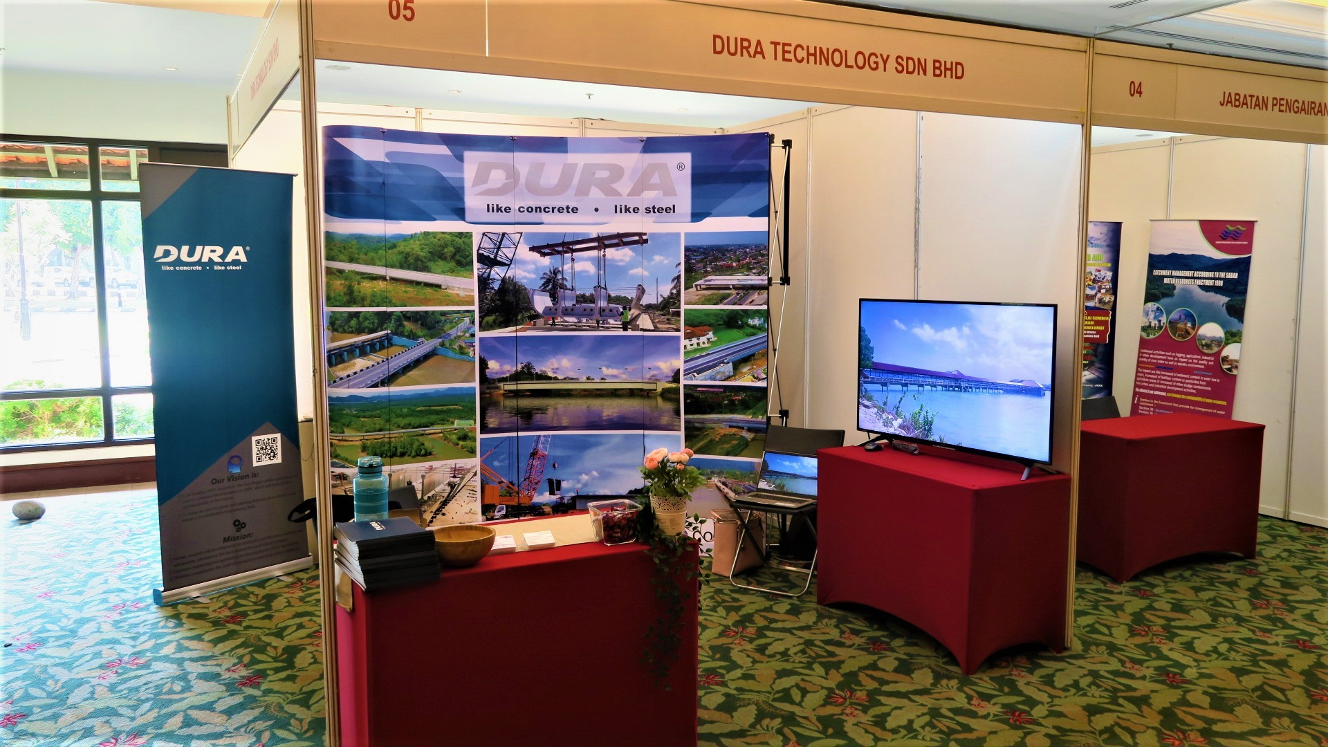 Booth by Dura Technology.
